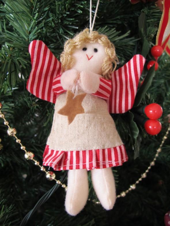 Anjinho de tecido – Decoração de Natal 004