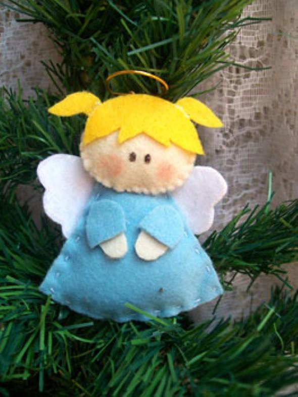 Anjinho de tecido – Decoração de Natal 006