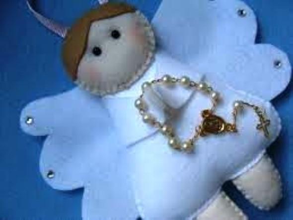Anjinho de tecido – Decoração de Natal 007
