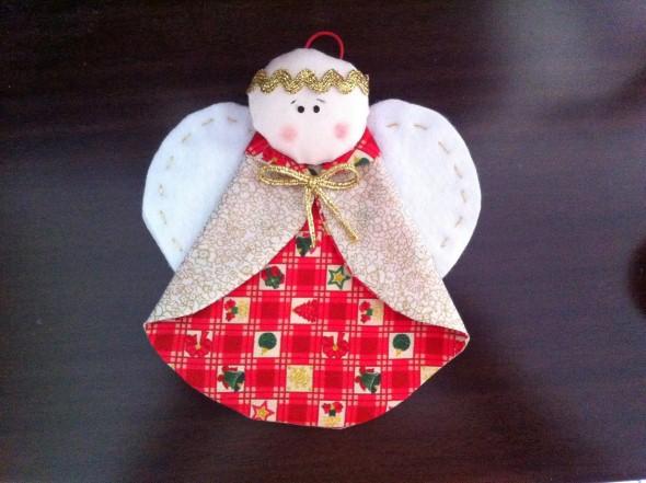 Anjinho de tecido – Decoração de Natal 008