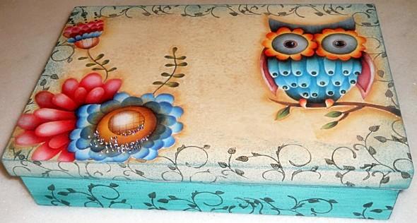 Caixa de MDF decorada com decoupage 007
