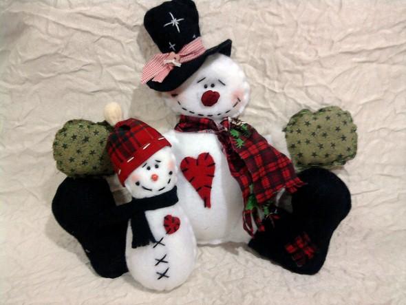 Como fazer boneco de neve 002