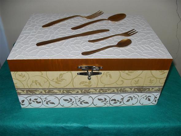 Porta talheres artesanal em MDF 002