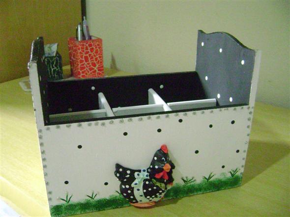Porta talheres artesanal em MDF 010