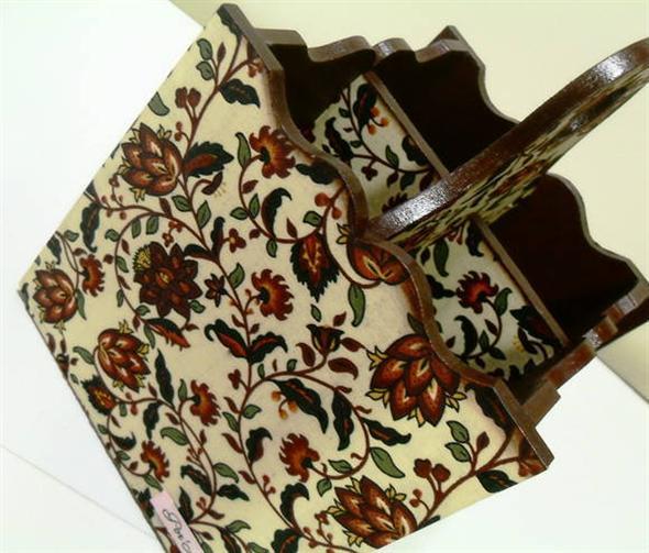 Porta talheres artesanal em MDF 011