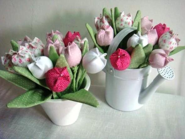 Flor de tecido - Modelos e como fazer 004