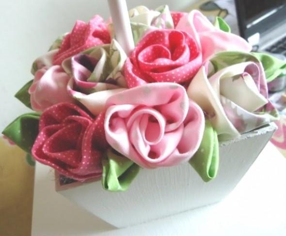 Flor de tecido - Modelos e como fazer 007