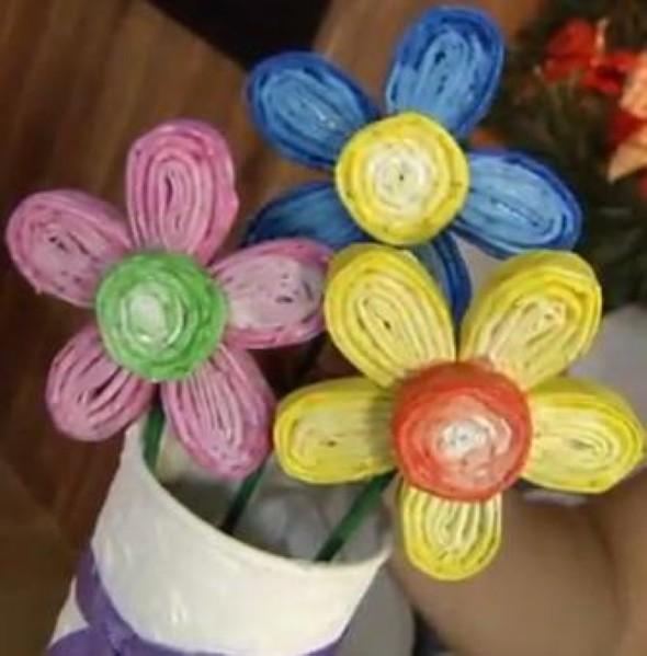 Flores artesanais de quilling 002