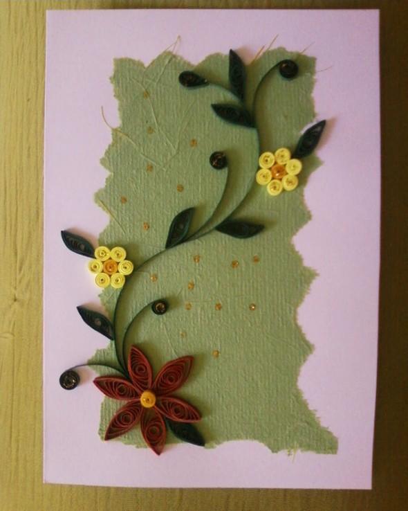 Flores artesanais de quilling 005