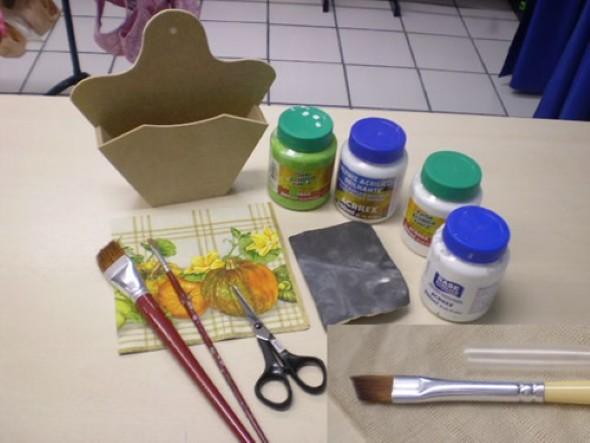 Pintura e aplicação de guardanapo em MDF 002