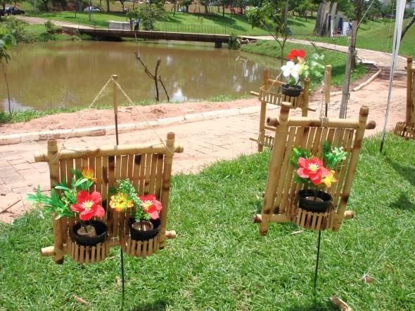 artesanato de bambu para jardim:de artesanato com bambu idéias de artesanato com bambu modelos de