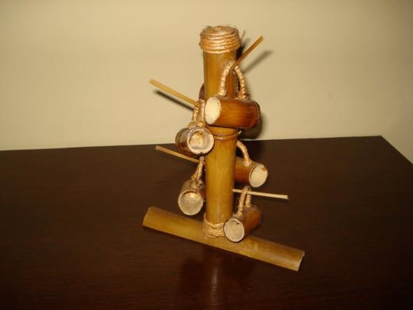 Artesanato com bambu 004