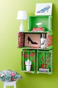 Artesanato com caixotes de madeira 012