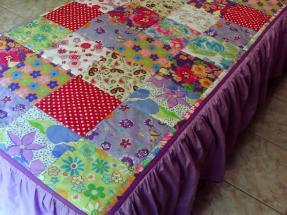 Como fazer colcha de retalhos artesanal 004