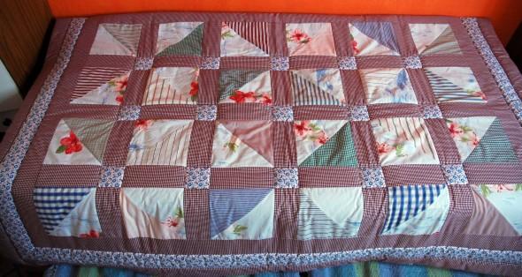 Como fazer colcha de retalhos artesanal 010