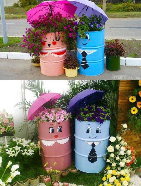 Decora o feita com material reciclado - How to decorate a dustbin ...