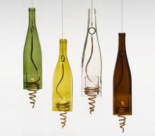 Garrafas de vidro no artesanato 005