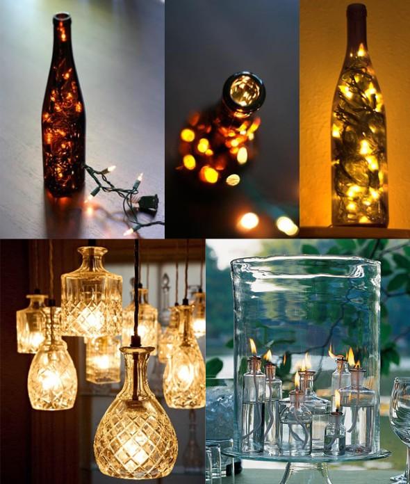 Garrafas de vidro no artesanato 011
