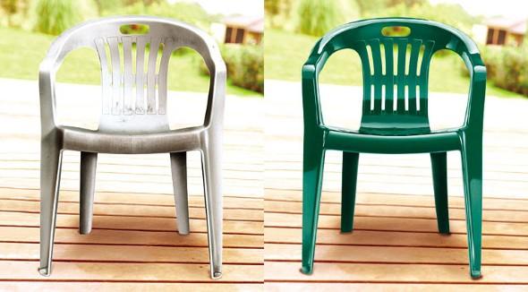 Personalizar cadeiras de pl stico antigas - Pintura en spray para plastico ...