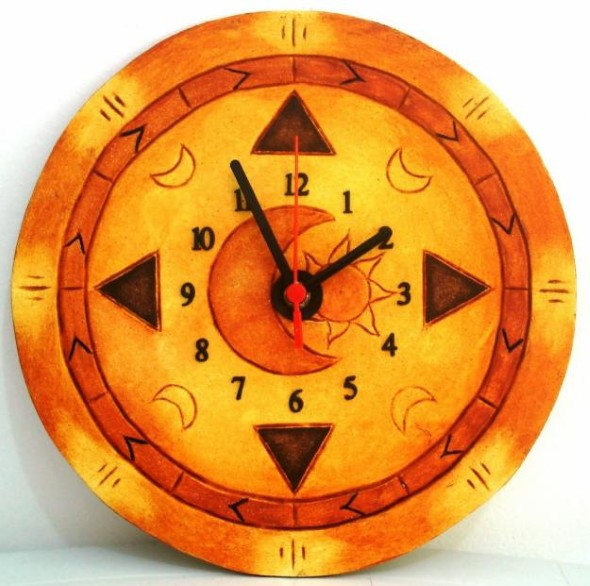 Como fazer relógio artesanal 004