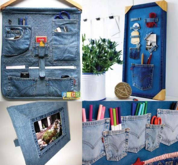 Artesanato com jeans usado 012