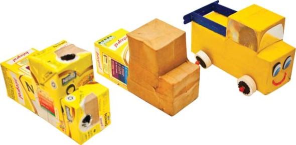 Carrinhos de caixa de leite 004
