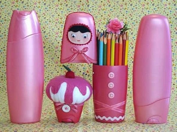 Porta canetas de material reciclado 003