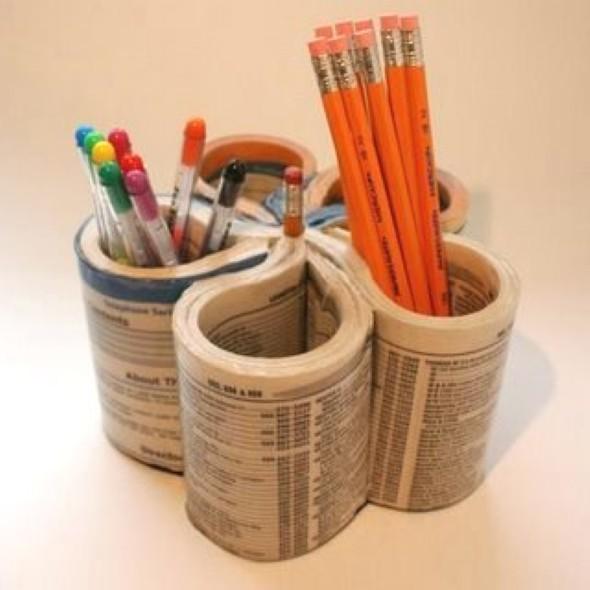 Porta canetas de material reciclado 004