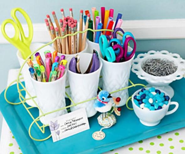 Porta canetas de material reciclado 009