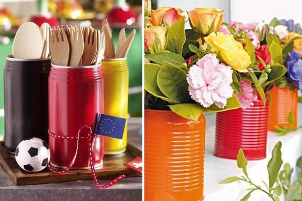 Reciclagem e artesanato na cozinha for Objetos baratos para decorar