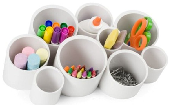 Reciclando tubos de PVC com artesanato 014