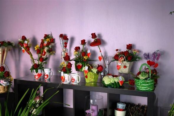 Arranjos florais para o dia dos namorados 008