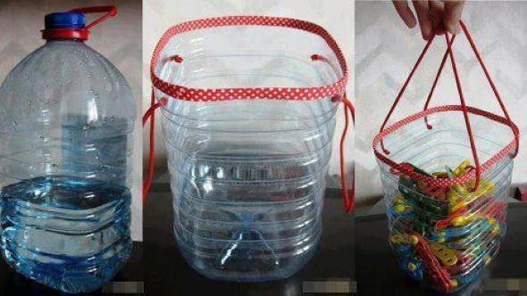Artesanato com galões de água 004