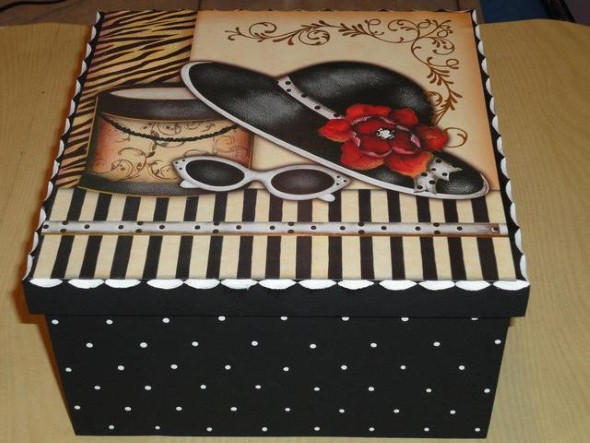 Armario Planejado Banheiro ~ Caixas em MDF decoradas para o Dia das M u00e3es