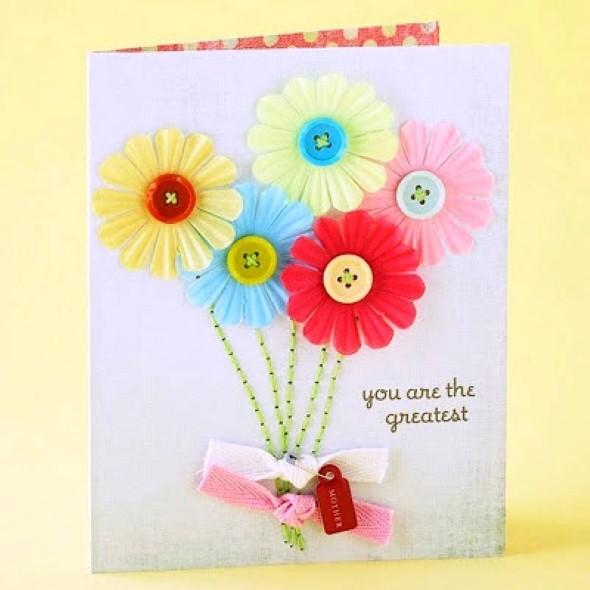 Cartão artesanal para o Dia das Mães 009