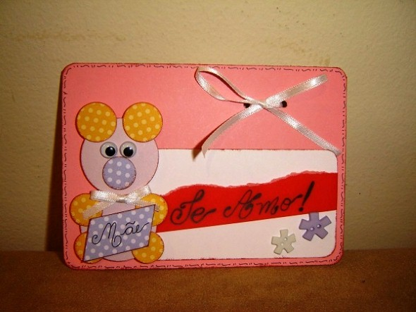Cartão artesanal para o Dia das Mães 011