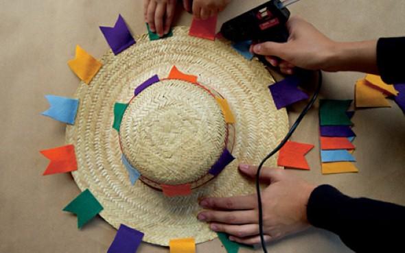 Como decorar chapéu de palha para Festa Junina 003