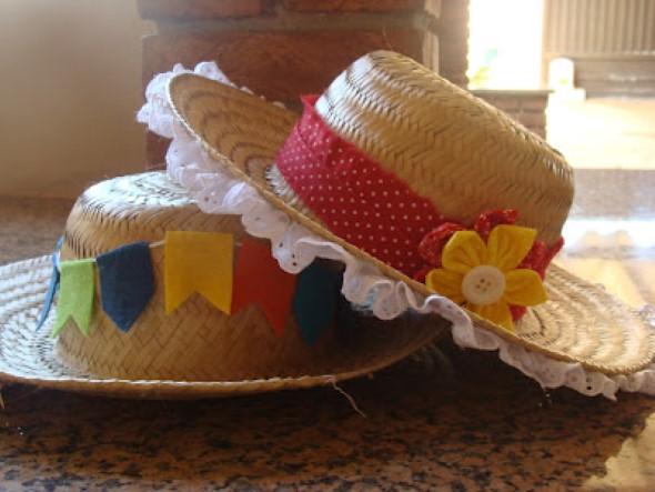 Como decorar chapéu de palha para Festa Junina 006