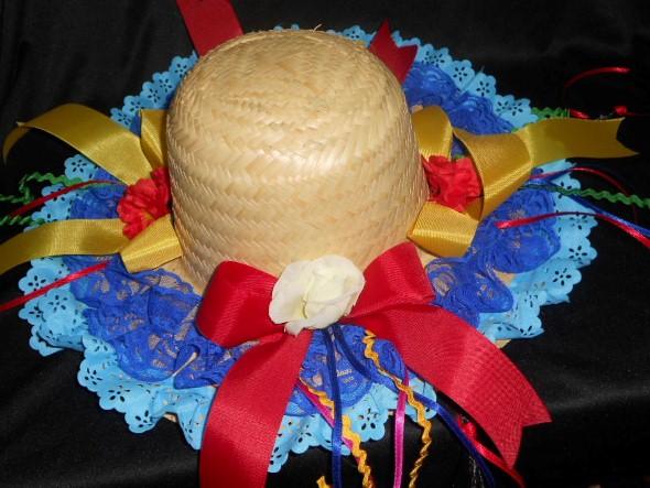 Como decorar chapéu de palha para Festa Junina 007
