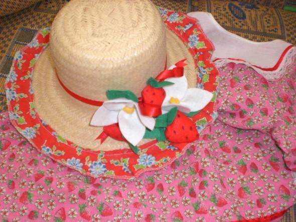 Como decorar chapéu de palha para Festa Junina 008