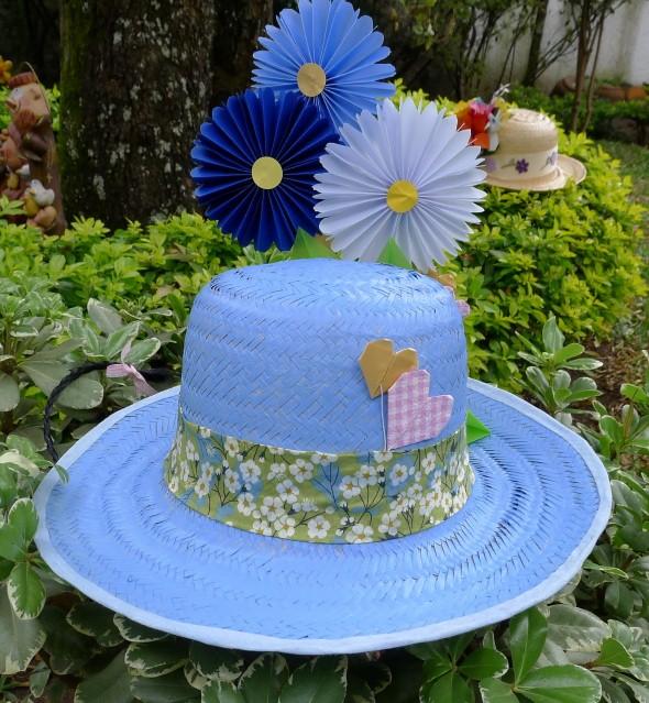 Como decorar chapéu de palha para Festa Junina 010
