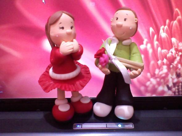 Lembrancinha do Dia dos Namorados em Biscuit 009