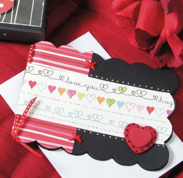 Cartão de scrapbook para o Dia dos Namorados 007