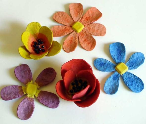 Flores de caixa de ovos 005