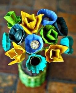 Flores de caixa de ovos 014