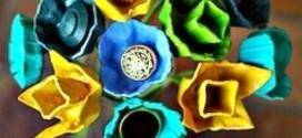 Flores de caixa de ovos – Modelos e como fazer