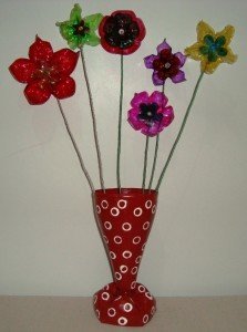 Flores de garrafa PET 004