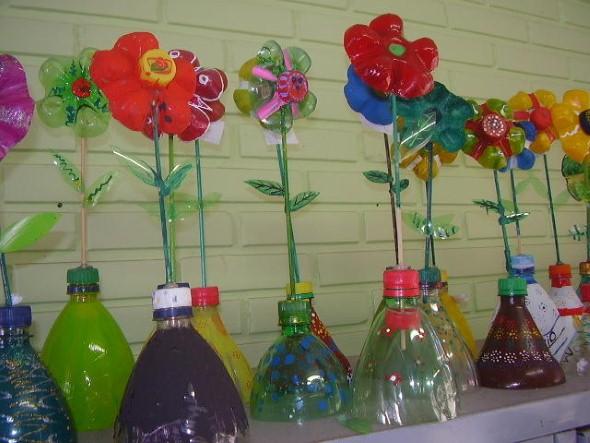Flores de garrafa PET 005