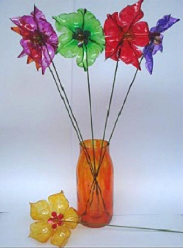 Flores de garrafa PET 012