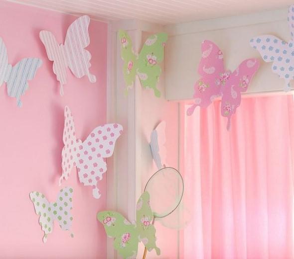 Como fazer enfeites de borboleta - Manualidades para decorar paredes ...
